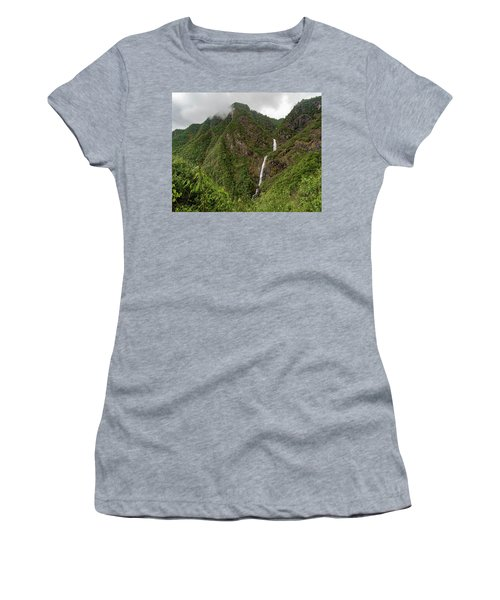 Shenlong Waterfall 8x10 Horizontal Women's T-Shirt