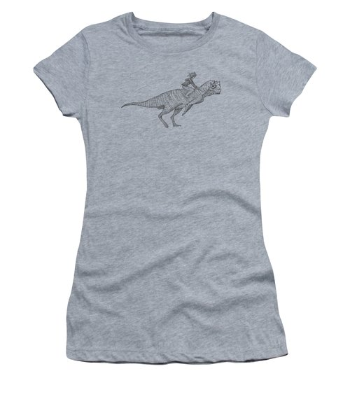 Siberian Dinosaur Women's T-Shirt (Athletic Fit)