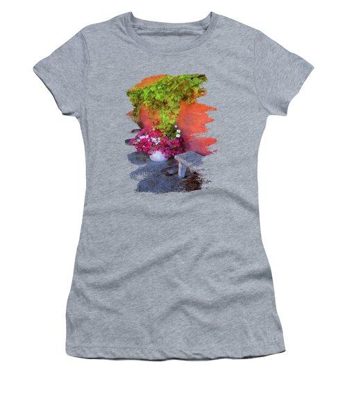 Sidewalk Floral In Brownsville Women's T-Shirt