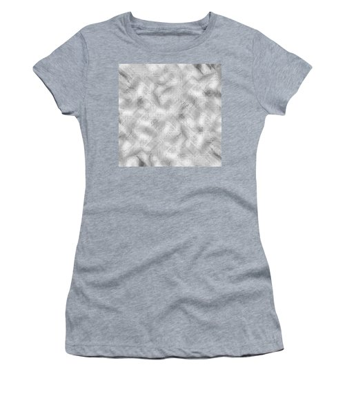 Women's T-Shirt (Athletic Fit) featuring the photograph Silver Metal by Top Wallpapers