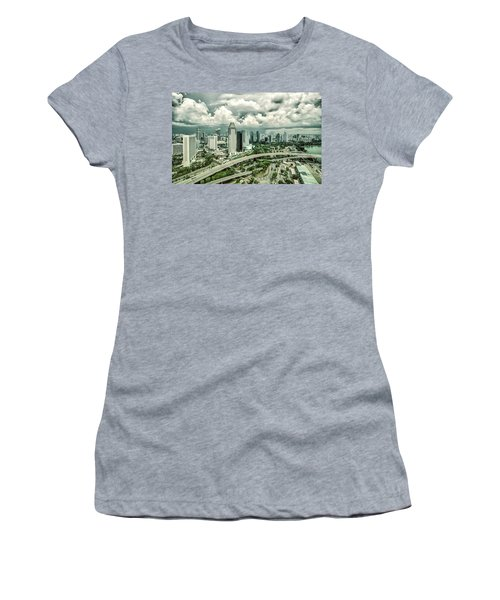 Women's T-Shirt featuring the photograph Singapore by Chris Cousins
