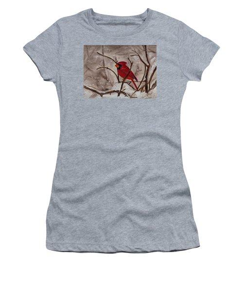 Snow Cardinal Women's T-Shirt