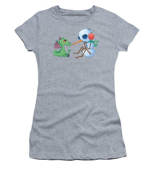 Snowman And Dragon Women's T-Shirt