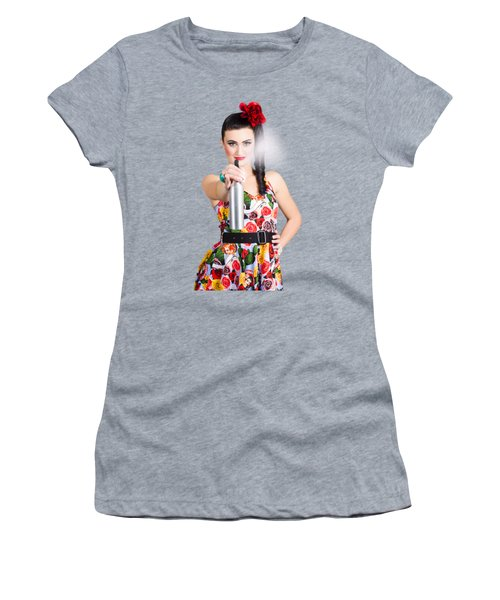 Spray And Wipe Housewife Women's T-Shirt
