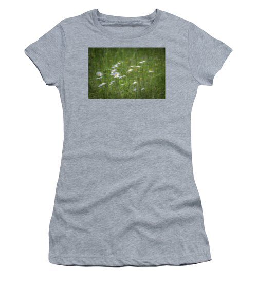 Women's T-Shirt featuring the photograph Spring Flowers In The Wind by Allin Sorenson