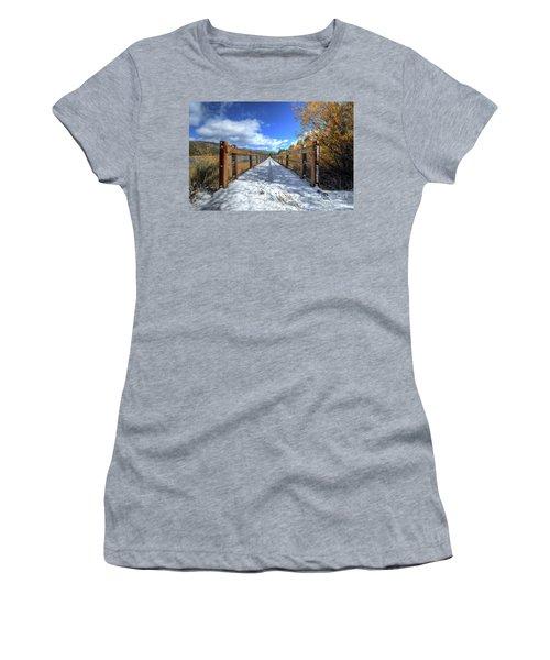 Stanfield Marsh Wildlife And Waterfowl Preserve Bridge Women's T-Shirt