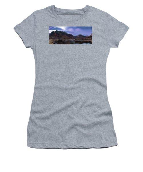 Stone Bridge On Lofoten Islands  Women's T-Shirt