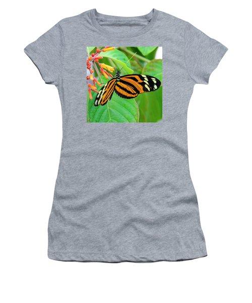 Striking In Orange And Black Women's T-Shirt
