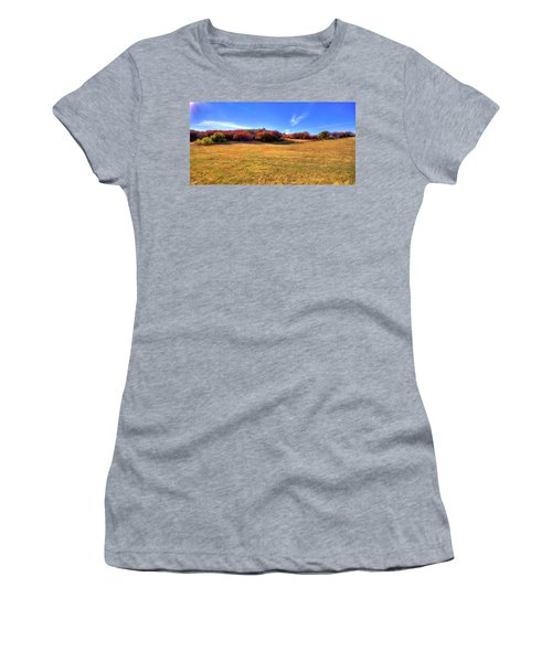 Women's T-Shirt featuring the photograph Sun On Magpie Forest by David Patterson