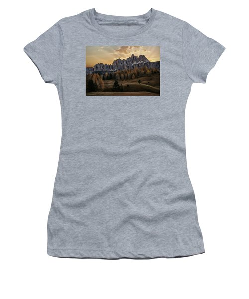 Sunrise In The Dolomites Women's T-Shirt