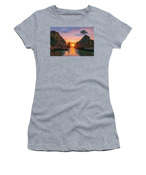 Sunrise In The Village Of Tossa De Mar, Costa Brava Women's T-Shirt