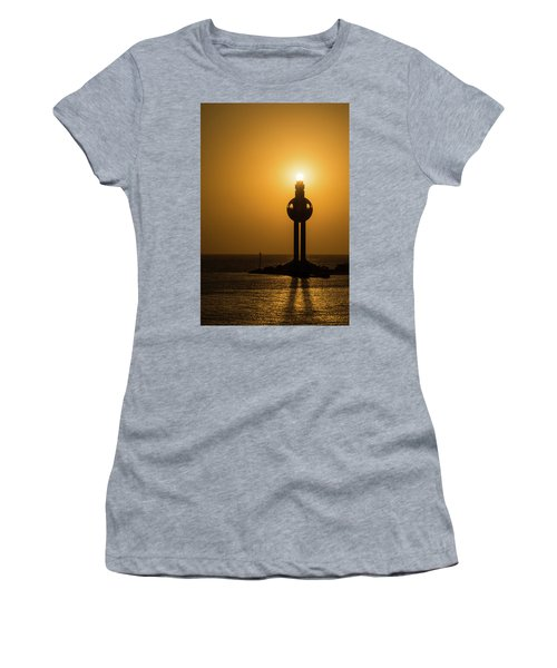 Women's T-Shirt featuring the photograph Sunset In Port Jeddah, Saudi Arabia by William Dickman