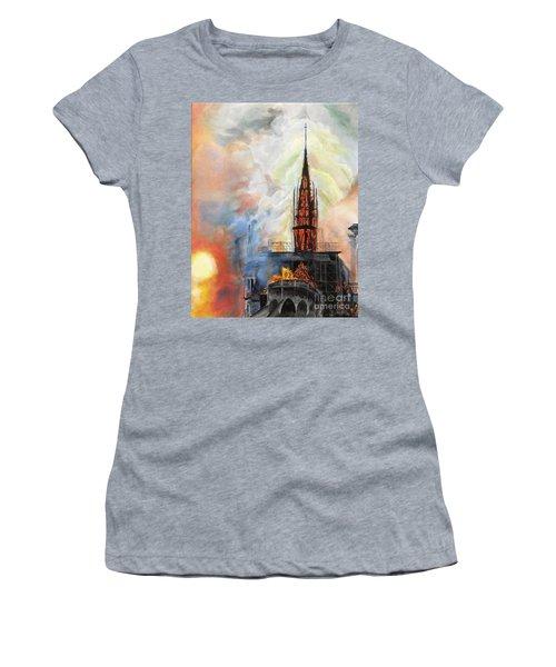 Sunset On Notre Dame Women's T-Shirt
