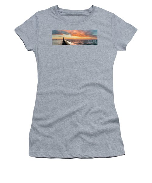Sunset Panorama In Frankfort Women's T-Shirt