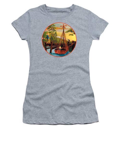 Super Boat Overlay Women's T-Shirt (Athletic Fit)