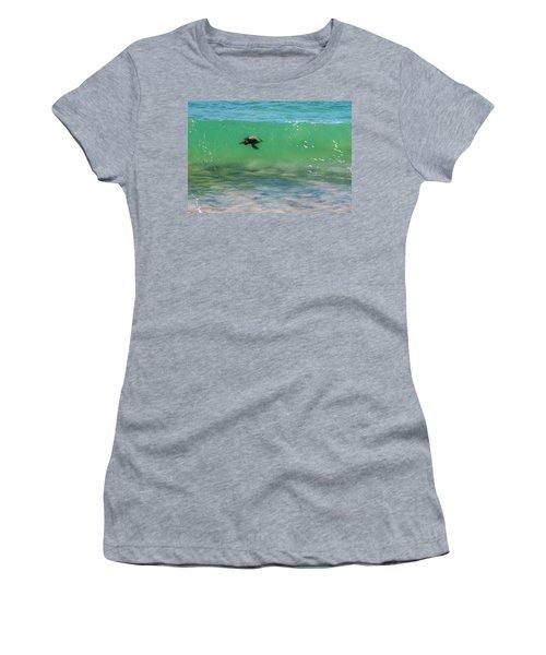 Surfing Turtle Women's T-Shirt