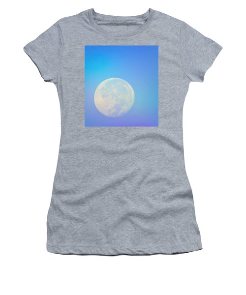 Women's T-Shirt featuring the photograph Taurus Almost Full Moon Blend by Judy Kennedy