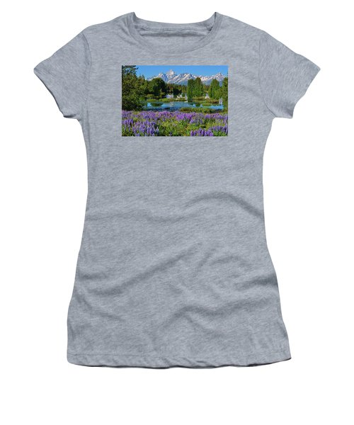 Tetons And Lupines Women's T-Shirt