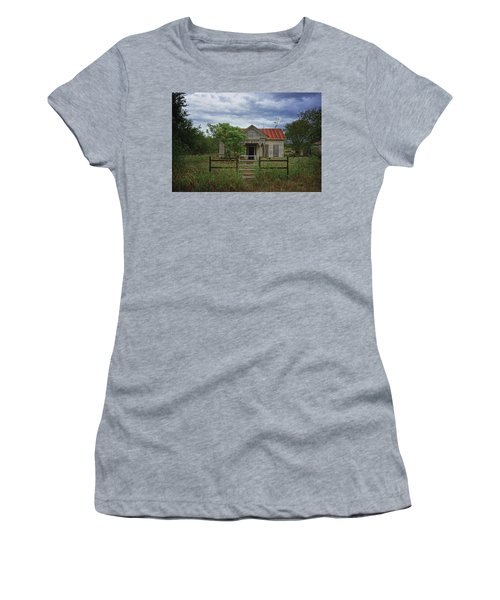 Texas Farmhouse In Storm Clouds Women's T-Shirt