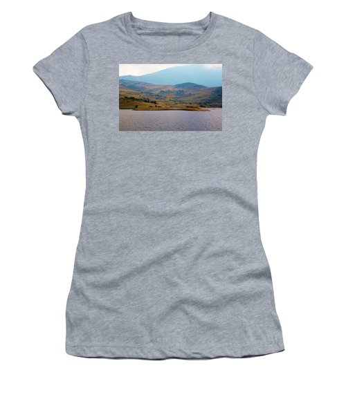 Women's T-Shirt featuring the photograph That Small Island by Milena Ilieva
