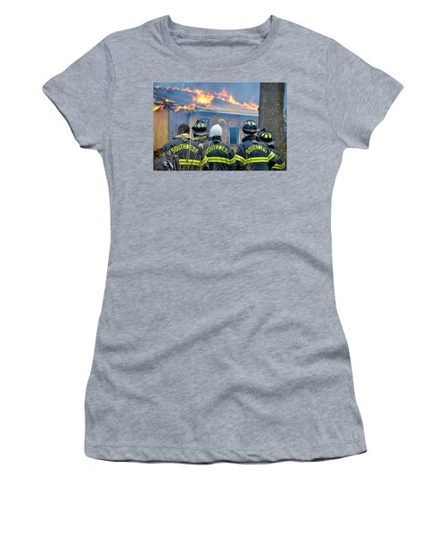 Women's T-Shirt featuring the photograph The Crew by Carl Young