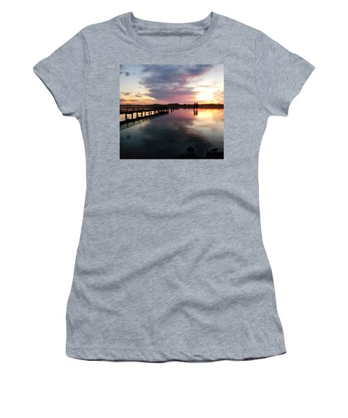 The Hollering Place Pier At Sunset Women's T-Shirt
