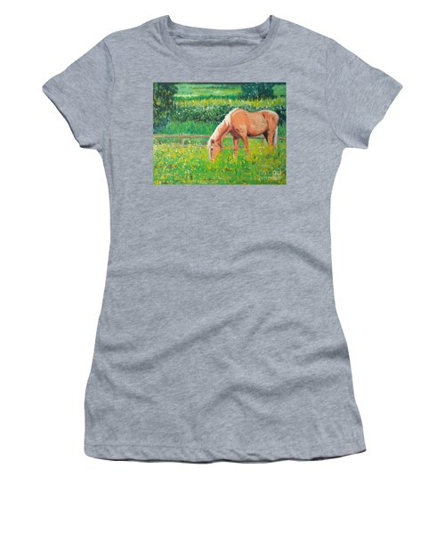 The Palomino And Buttercup Meadow Women's T-Shirt