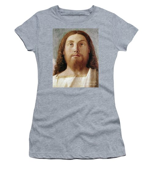 The Redeemer Detail Of A Painting By Giovanni Bellini  Women's T-Shirt