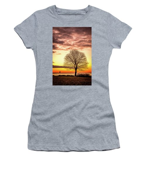 Women's T-Shirt featuring the photograph The Tree by Jeff Sinon