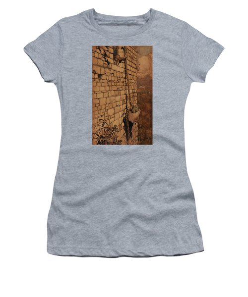 The Witch Climbed Up, Rapunzel, Grimm's Fairy Tales, 1909 Women's T-Shirt