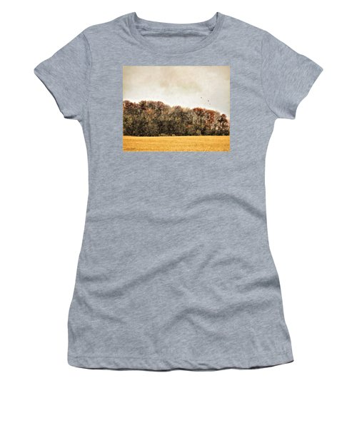 Three Crows And Golden Field Women's T-Shirt