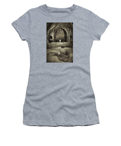 Tomb And Altar In The Monastery Of San Pedro De Rocas Women's T-Shirt