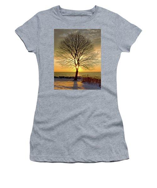 Tree Framed Sunrise New Hampshire Women's T-Shirt
