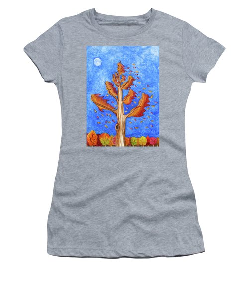 Tree In Autumn Wind I Women's T-Shirt