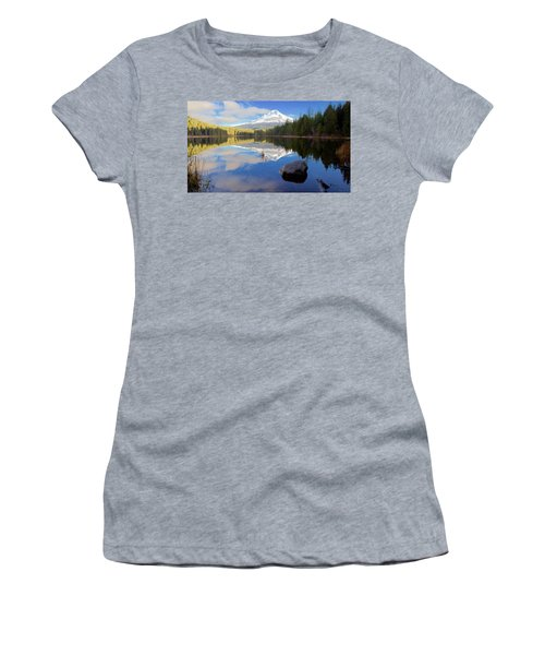 Trillium Lake November Morning Women's T-Shirt