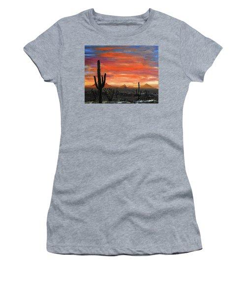 Tucson Mountains At Sunset Women's T-Shirt