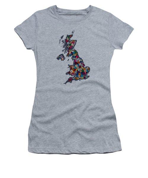 United Kingdom Map-2 Women's T-Shirt