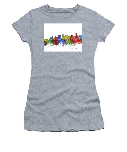 Vancouver Skyline Watercolor 2 Women's T-Shirt