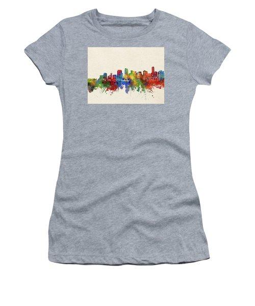 Vancouver Skyline Watercolor Women's T-Shirt