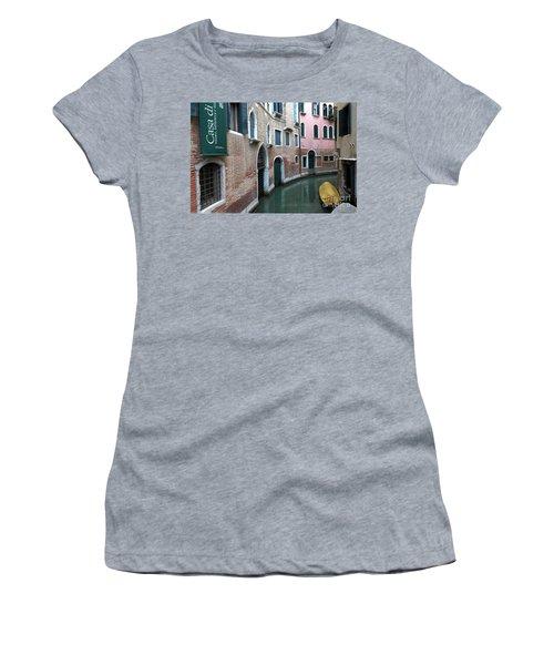 Venetian Streets -canals. Carlo Galdoni Museum Women's T-Shirt