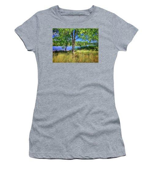 Women's T-Shirt featuring the photograph Viele Lake 4 by Dan Miller
