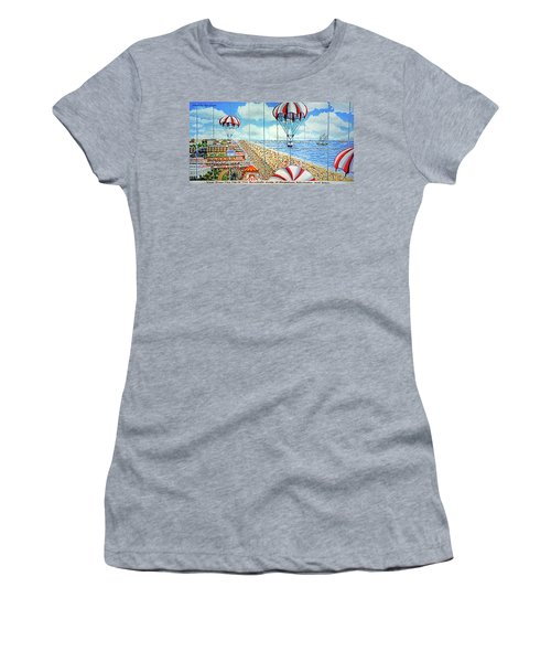 View From Parachute Jump Towel Version Women's T-Shirt