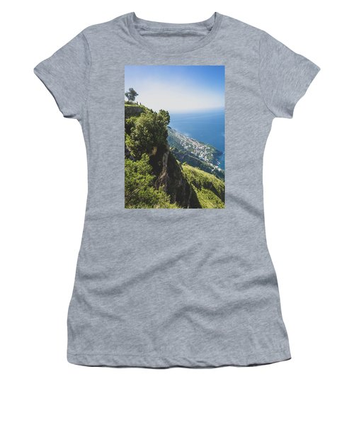 View Of Amalfi Italy From Path Of The Gods Women's T-Shirt