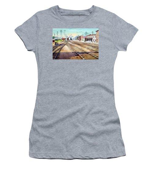 Vintage Color Columbia Rail Yards Women's T-Shirt