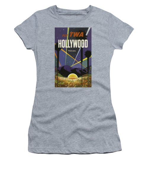 Vintage Travel Poster - Hollywood Women's T-Shirt