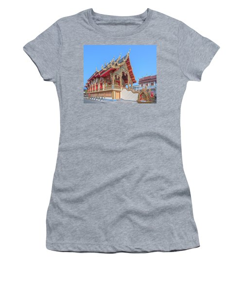 Women's T-Shirt featuring the photograph Wat Chai Mongkon Phra Ubosot Dthlu0391 by Gerry Gantt