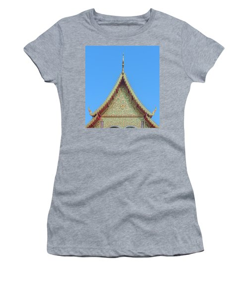 Women's T-Shirt featuring the photograph Wat Nong Khrop Phra Ubosot Gable Dthcm2663 by Gerry Gantt