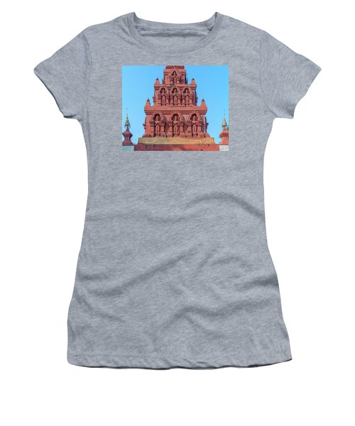 Women's T-Shirt featuring the photograph Wat Pa Chedi Liam Phra Chedi Liam Buddha Images Dthcm2673 by Gerry Gantt