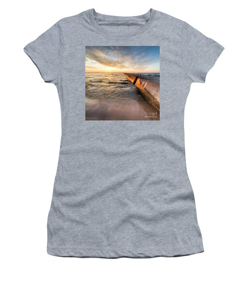 Waves And Sunset In Frankfort Women's T-Shirt
