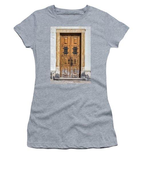 Weathered Brown Door Of Portugal Women's T-Shirt